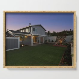 California USA Encinitas Mansion Lawn Evening Cities Building Design Houses Serving Tray