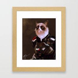 Commander Grumpy Framed Art Print