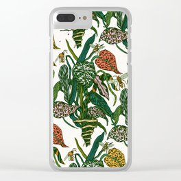 bugs & plants Clear iPhone Case