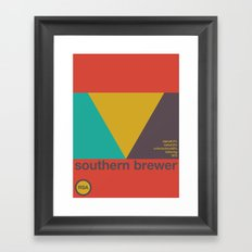 southern brewer single hop Framed Art Print