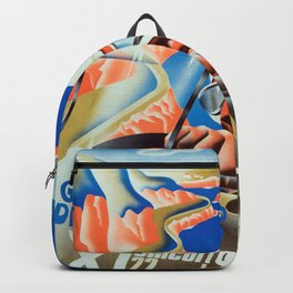 San Sebastian Spanish Grand Prix 1935 - Vintage Poster Backpack