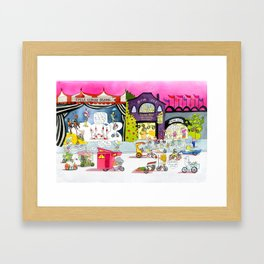 CYCLE CITY just before the parade Framed Art Print