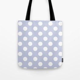 Light periwinkle - grey - White Polka Dots - Pois Pattern Tote Bag