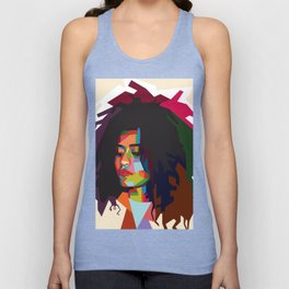 beautiful frizzy girl Unisex Tank Top