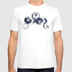 Yin & Yang White MEDIUM Mens Fitted Tee