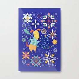 Happy Dog Year Metal Print