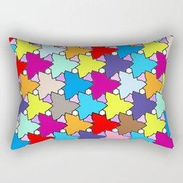 Spring Colors Geometric Rectangular Pillow