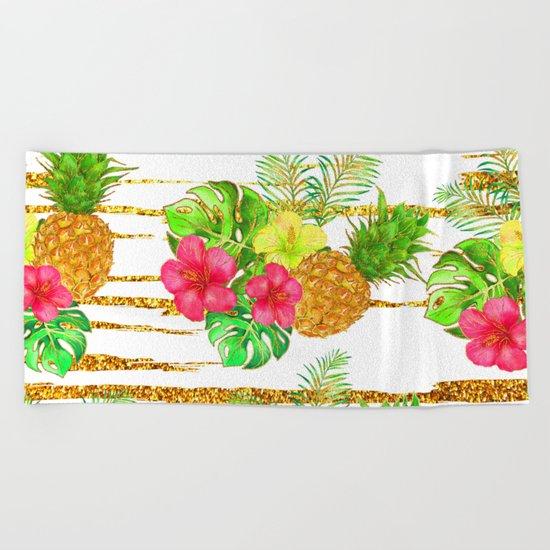 Summer glitter #9 Beach Towel