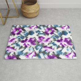 """""""Watercolor glamour """". Lilac - blue. Rug"""