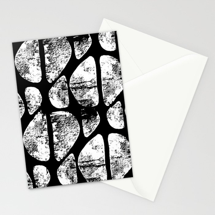 Black and White Abstract Stationery Cards
