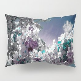 Flowers Purple & Teal Pillow Sham