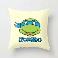 leonardo Throw Pillows featuring Leonardo by husavendaczek