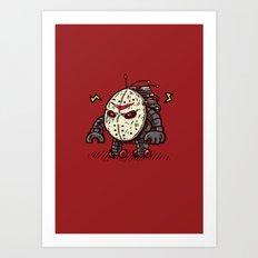 Hockey Mask Bot Art Print