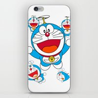 doraemon iPhone & iPod Skins featuring Doraemon by Timeless-Id
