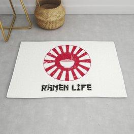 Ramen Life Japanese Noodles Lover Vintage Retro Style Japan Flag Rug