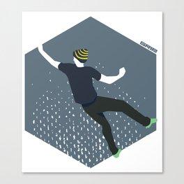 bouldering man Canvas Print