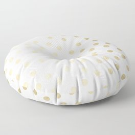 Stylish Gold Polka Dots Floor Pillow