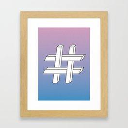 Geometries in Flat Spaces #1 Framed Art Print