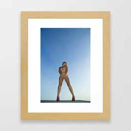 Smiling to the wind Framed Art Print