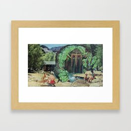 All Kids Out of the Pool - Vintage Collage Framed Art Print