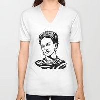 frida V-neck T-shirts featuring Frida  by b & c