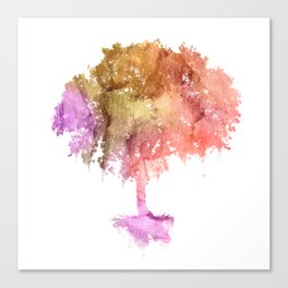Watercolor tree painting Canvas Print