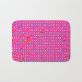 Neon Party Shapes: Abstract Design Bath Mat
