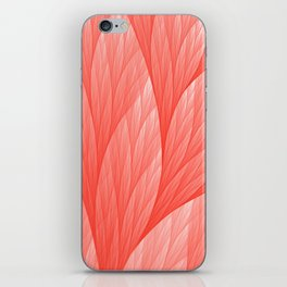 Living Coral Color of the Year 2019 Abstract Pattern Fractal Fine Art iPhone Skin