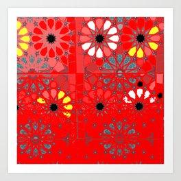 red tunisia Art Print