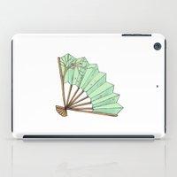 terry fan iPad Cases featuring Fan by Rene Robinson