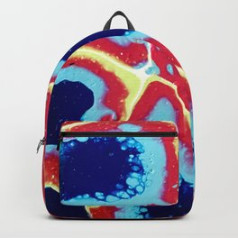 Red and Blue Geo Backpack