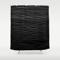 wave Shower Curtains featuring Wave by Georgiana Paraschiv