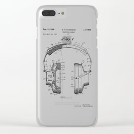 Headphones Patent Clear iPhone Case