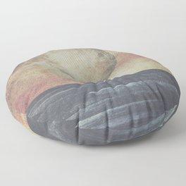 Restless moonchild Floor Pillow