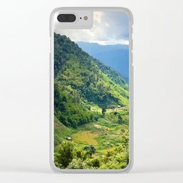 MOUNTAIN LANDSCAPE IN LAMDONG PROVINCE Clear iPhone Case