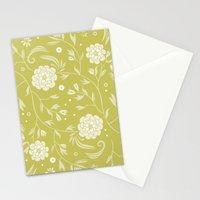 Sunny floral pattern Stationery Cards
