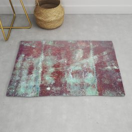 Background. Grunge and rusty metal surface Rug