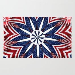 American Flag Kaleidoscope Abstract 2 Rug