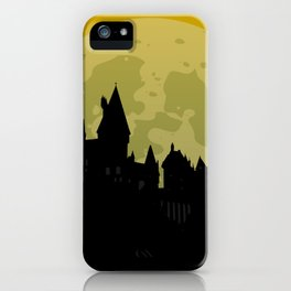 Castle - Yellow, Large Moon iPhone Case