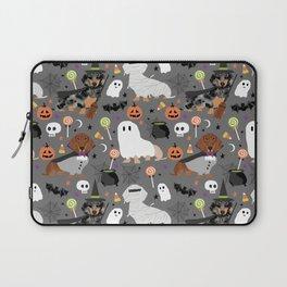 Dachshund dog breed halloween cute pattern doxie dachsie dog costumes Laptop Sleeve