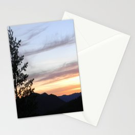 Dusk in the mountains Stationery Cards