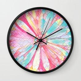 Pastel Geometric Daisy Wall Clock