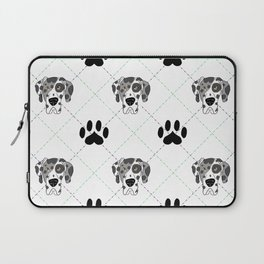 Merle Great Dane Paw Print Pattern Laptop Sleeve