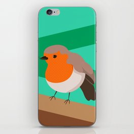 Robin Print iPhone Skin