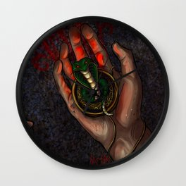 The Snake Charm Wall Clock