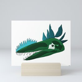 The Sad Dinosaur Mini Art Print