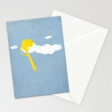 Early morning shave Stationery Cards