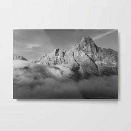 Misty Dolomites Metal Print