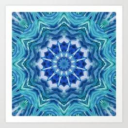 Mandala sea breeze Art Print