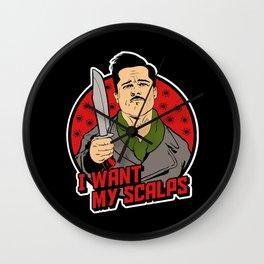 Aldo The Apache - I want my scalps Wall Clock